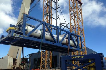 ENI GE Ghana OTCP Project: ARTP C-Series Compensated Coiled Tubing Tension Lift Frame