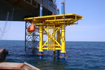 Santos Oyong Field Development: Tall Template Wellhead Platform Structure, Indonesia