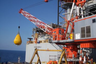 ENI Blacktip Field Development: Offshore Platform Crane Installation